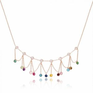 •mix stone necklace•